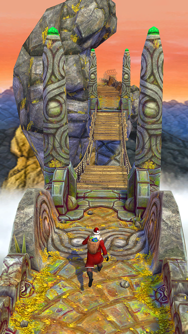 Waterslides And Santa Claus? It's A Very Temple Run 2 Christmas