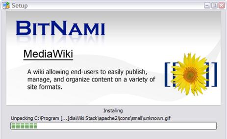BitNami Installer for MediaWiki and More