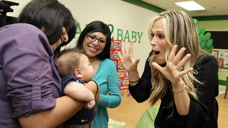 Molly Sims Gives Out Diapers, Peek-a-Boos