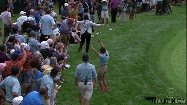 PGA Tour Official Chases After Ball, Eats It