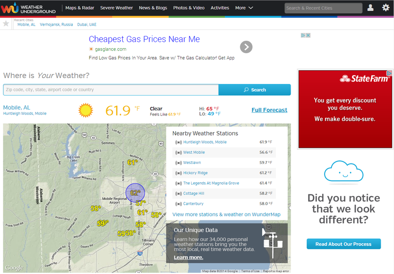 Weather Underground Launches Major Redesign