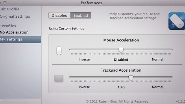 how to turn on mouse acceleration