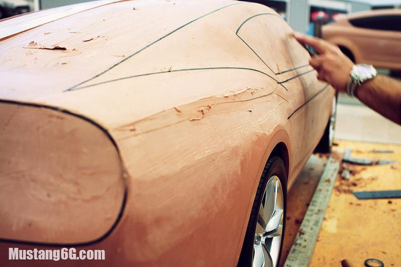 Those 2015 Mustang Clay Model Photos Are Actually Old Design Exercises