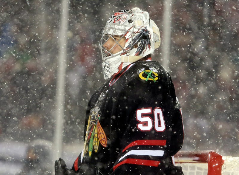 Now Corey Crawford's Pads Are Missing