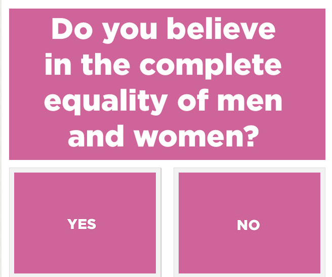 Problematic Buzzfeed Quiz: Are You A Feminist