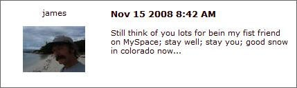 Ashley Dupre, Your MySpace Friends Will Lead You To Ruin
