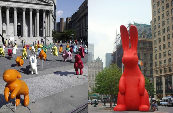 Bravia Ad Shoot Overwhelms NYC With Play Doh Bunnies