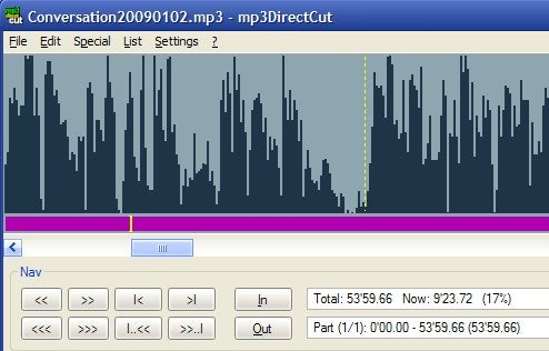 MP3DirectCut Edits Your MP3 Files Without Decompression