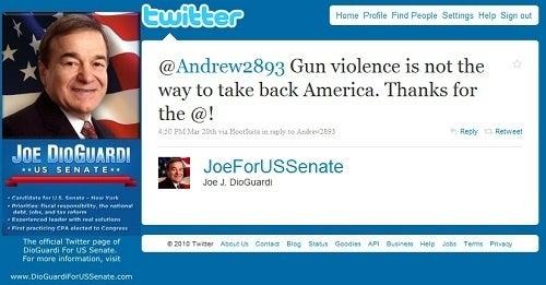 Joe DioGuardi Tweeting His Way to the Senate