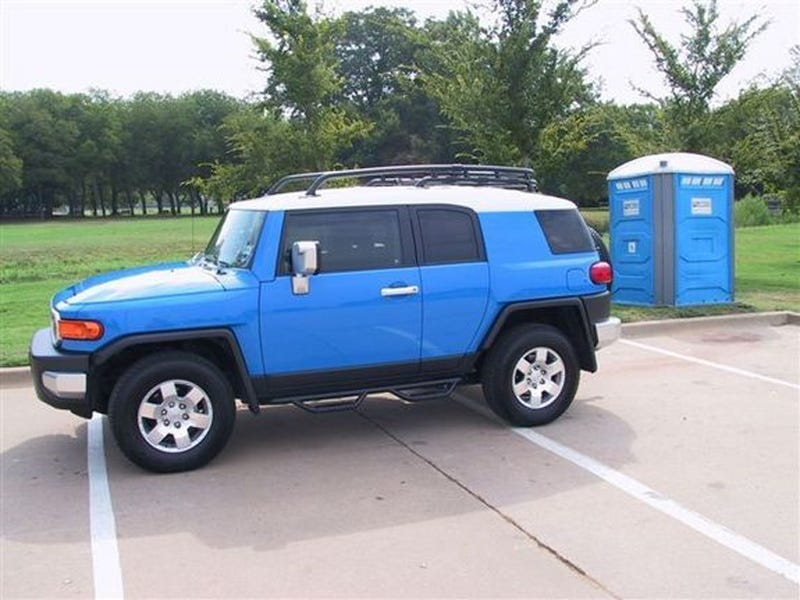 Toyota FJ And Porta Potty, Separated At Birth?