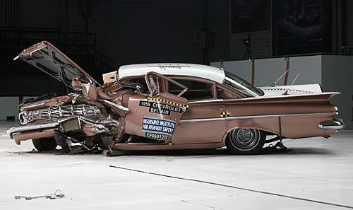 '09 Malibu-'59 Bel Air Crash Test, Before And After