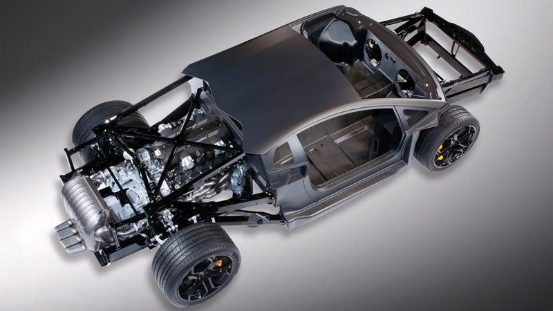 I am the Lamborghini Aventador's V12-engined rolling chassis