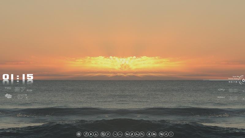 The Beach Sunset Desktop