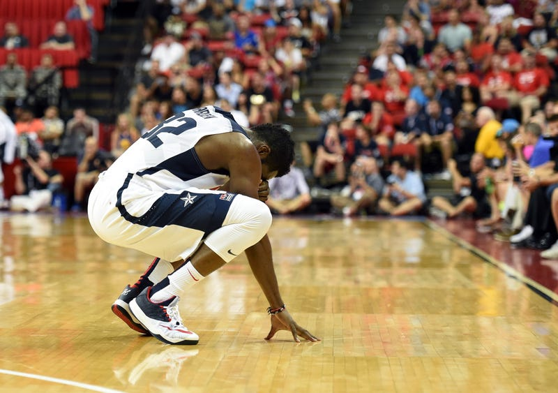 Photos: Teammates React To Paul George's Gruesome Leg Injury