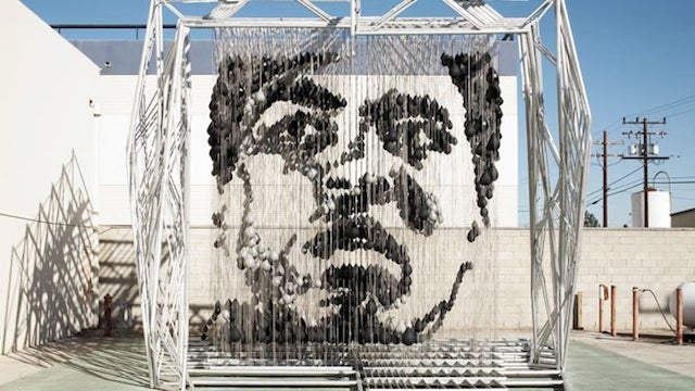 This Amazing Sculpture of Muhammad Ali Was Made with Punching Bags