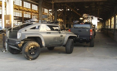 Hummer HX, H3T Spotted On Transformers 2 Set