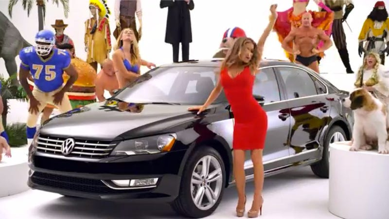 Volkswagen's Super Bowl Teaser Gives Carmen Electra Something To Do