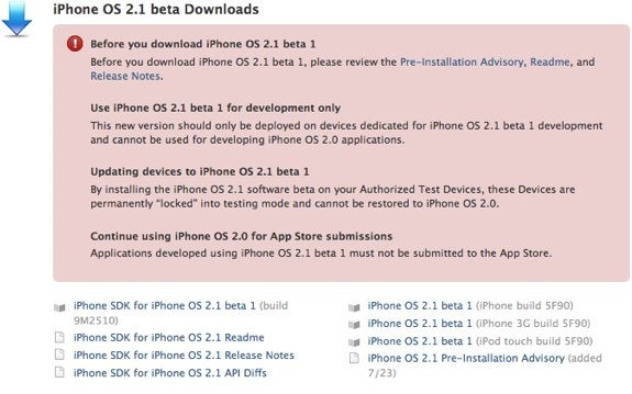 iPhone 2.1 Firmware Currently In Beta, More GPS Features On The Way