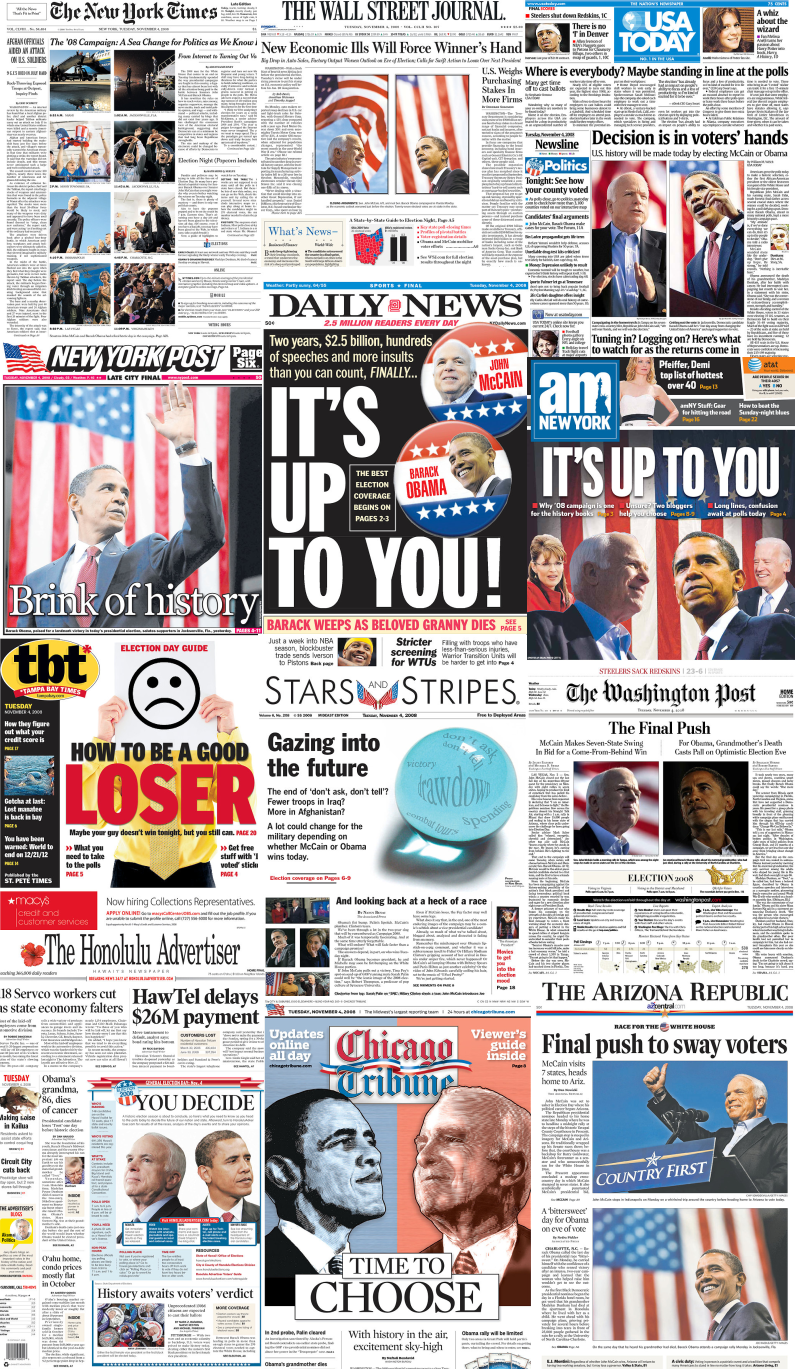 Newspapers Agree: Today is Election Day