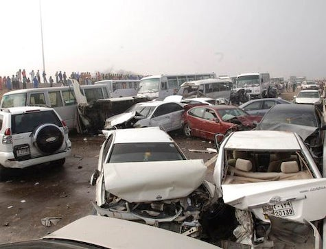 200 Car Pile-Up Takes Place In UAE