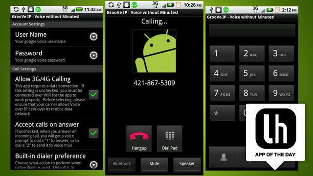 GrooVe IP Makes Free Calls from Google Voice Over Wi-Fi or 3G/4G, Uses No Minutes