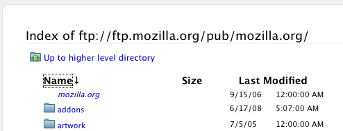 Firefox 3 Improves FTP Browsing
