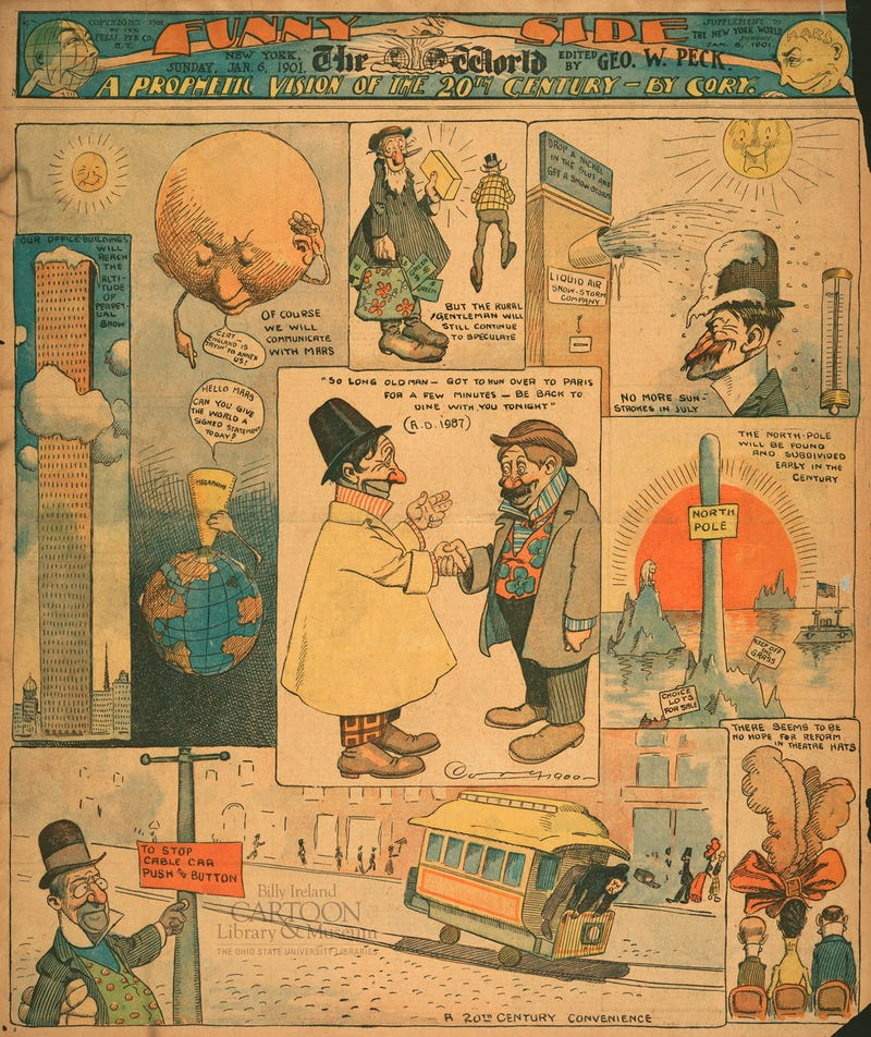 This 1901 Cartoon Takes a Humorous Look at the Future of New York