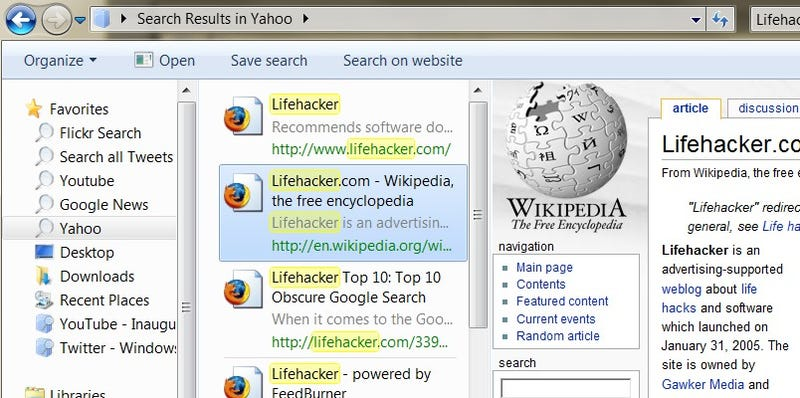Federated Search Puts Flickr and Much More into Windows 7 Search