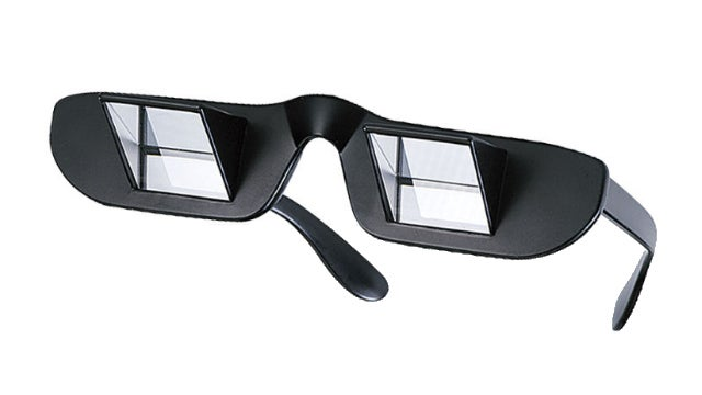 Prism Glasses Let You Read While Lying Down at the Cost of Looking Like an Idiot