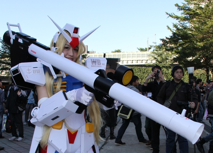 Behold, the Awesome Queen of Gundam Cosplay