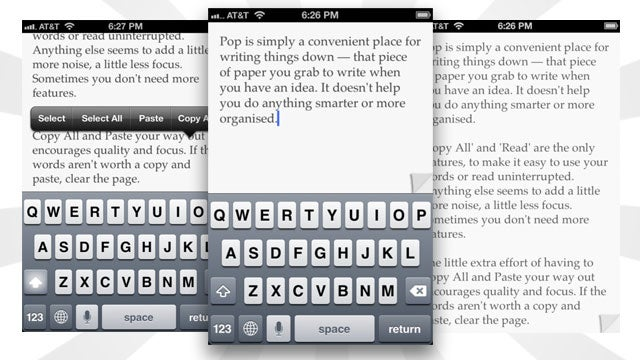 Pop Is a Simple Notepad for Quickly Jotting Down and Vetting Notes