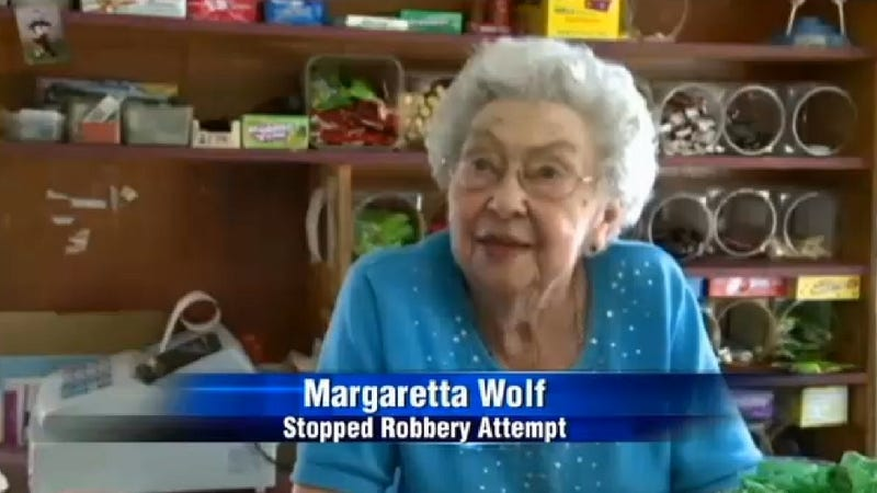Little Old Lady Denies Robber Cash, Offers Him Tootsie Rolls Instead