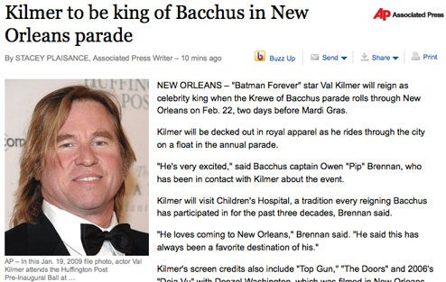 Val's Your Bacchus King