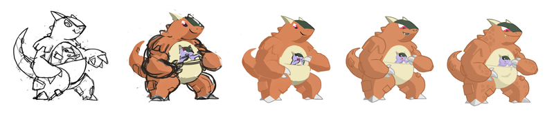 Kangaskhan Kids Around! Pokemon One a Day!