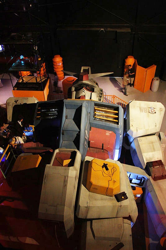 Pictures of Full-Scale 59-Foot Gundam Robot Kicks Optimus Prime's Ass