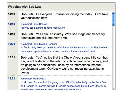 GM's Lutz Getting Web-Chatty At 3 PM EST, Make Your Voice Heard!