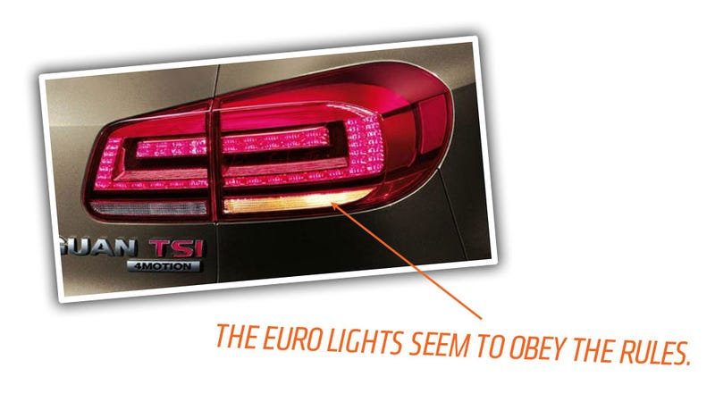 The VW Tiguan's US Taillights Are Princes Of Lies