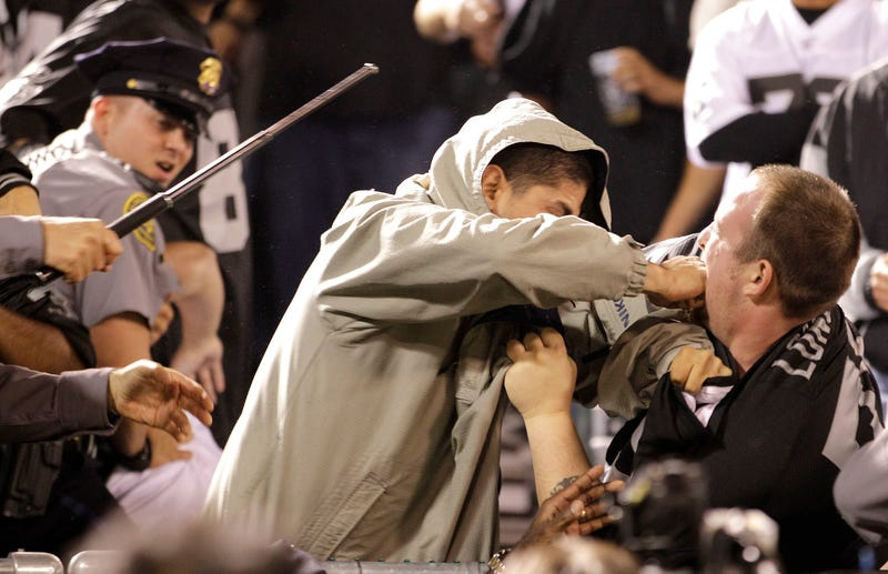 Some Fantastic Photos Of A Fan Fight At The Raiders Game [UPDATED WITH VIDEO]