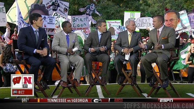 Brady hoke ate my sign the best signs behind the college gameday crew