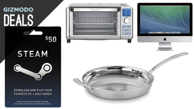 Deals: $70 Mouse with $50 in Steam Credit, Tri-Clad Skillet, $830 iMac