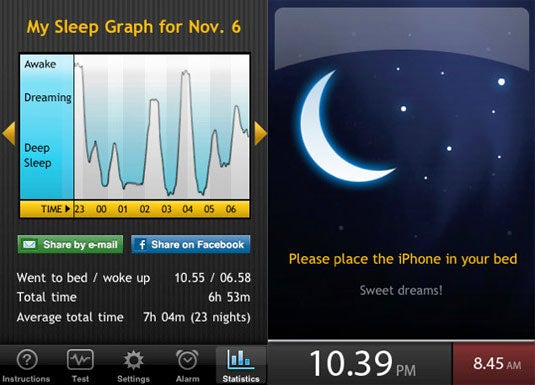 Best Mobile Alarm App: Sleep Cycle