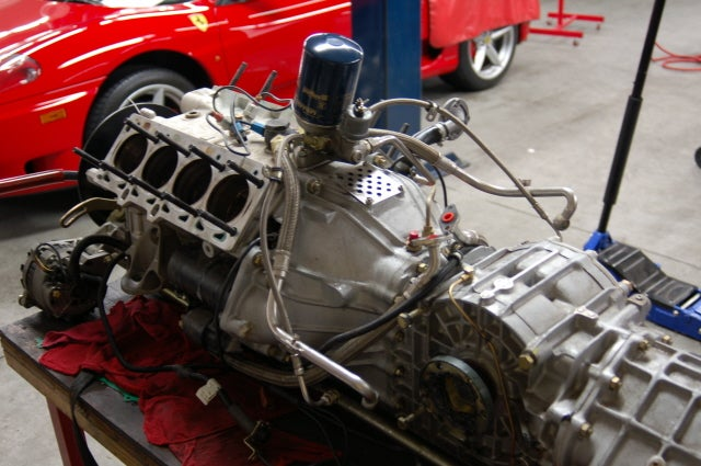 Tearing Down The Engine Of A Ferrari F40