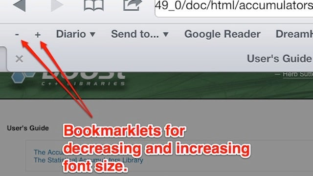 Change the Font Size on iPhone and iPad Web Sites with Bookmarklets