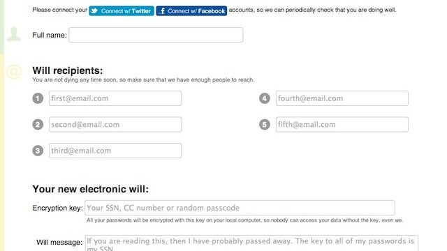 PassMyWill Sends Out Your Passwords After You Die