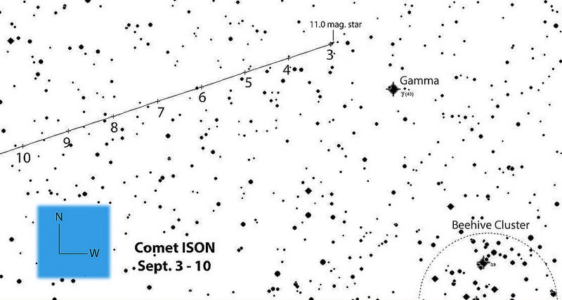 How to Spot Comet ISON in the Early Morning Sky