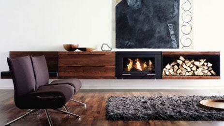Conmoto Wall Cabinet Doubles As Roaring Fireplace