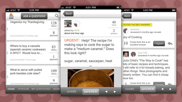 The Food52 Hotline iPhone App Gets Real-Time Answers To Your Pressing Cooking Questions