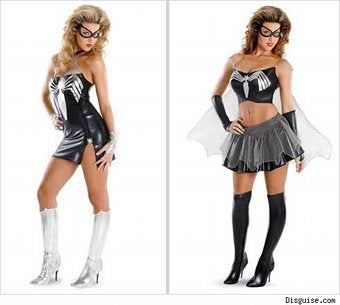 Carrie Prejean Believes In Crappy Spiderwoman Costumes