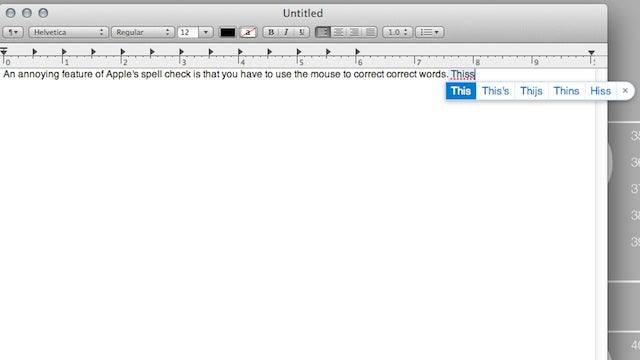Use a Keyboard Shortcut to Correct Misspelled Words on Mac OS X