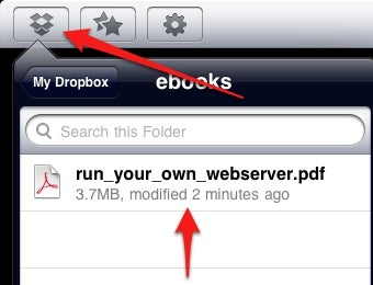 Add PDFs to Your iBooks Collection Using Dropbox